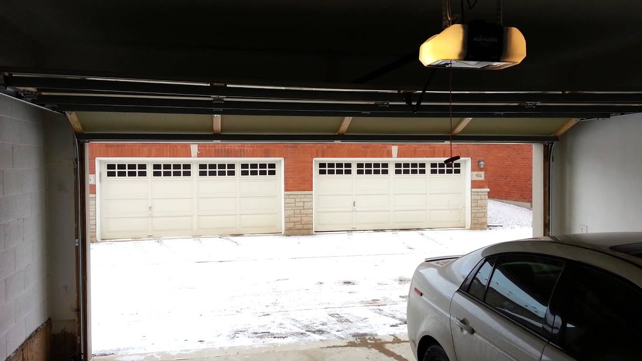 Garage door opener raynor admiral ii loud whine noise for Noisy garage door opener motor