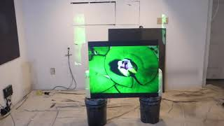 100% DONE what our new LUMINOUS Superior ALR cinema paint can do to a 2007 , 720p projector!