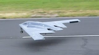 WORLD'S FIRST NORTHROP B-2 SPIRIT STEALTH BOMBER AS RC JET MODEL / Jet Power Fair 2016