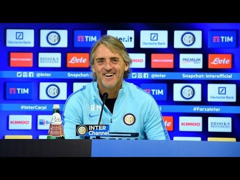Live! Conferenza stampa Mancini prima di Milan-Inter 30.01.2016 15:00CET