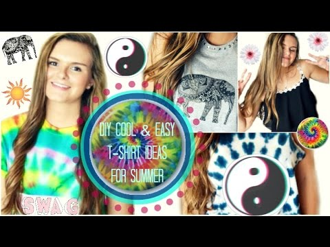 Fashionistalove22 Diy DIY Cool amp Easy T shirt Ideas