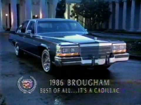 1986 Cadillac Fleetwood Brougham Commercial Youtube
