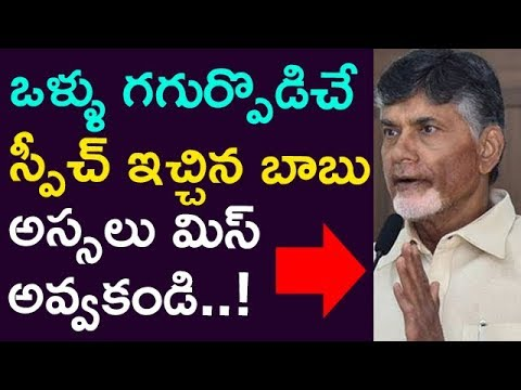 Chandrababu Goose Bumps Speech Ever..! Dont Miss It ! | Taja30