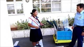 八重山署で中学生が職場体験