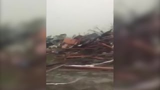 RAW VIDEO: Tornado damage in Adel, Ga. at Sunshine Acres Mobile Home Park (CNN)