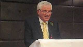 Eamon's Father of the Groom speech at Col's wedding