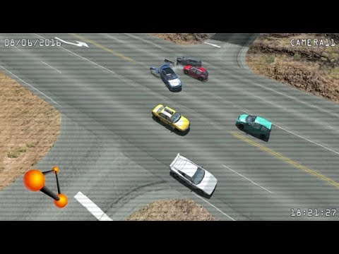 CCTV (Traffic Intersection) Realistic Crashes 15 - BeamNG. Drive
