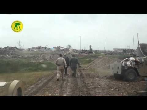 Iraqi Army liberate villages south of Mosul showing destroyed ISIS SVBIEDs