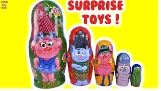 Dreamworks Trolls Nesting Dolls Blind Bags Toy Surprises Unboxing