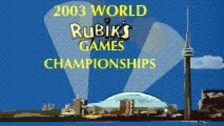 Rubik's Cube World Championships Part 1: 2003