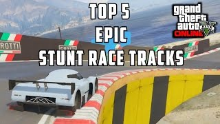 GTA 5 PS4 - Top 5 Epic Stunt Competitive Racing Tracks! (GTA V Racing Compilation)