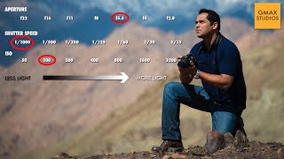 Photography Lessons - Relationship between camera aperture, shutter speed and ISO - Episode 5
