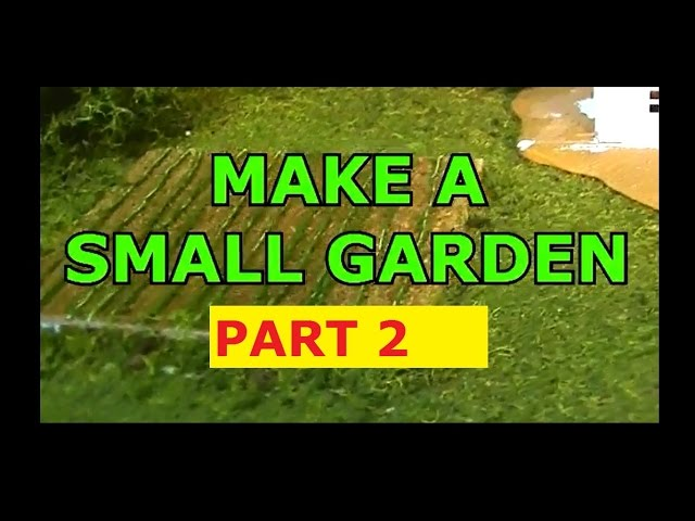HOW TO MAKE A GARDEN / MODEL RAILROADING PART2