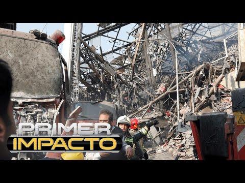 Edificio en llamas se convierte en trampa mortal para decenas de bomberos que acabaron sepultados