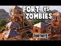 download lagu Defend The EPIC Fort Vs Huge ZOMBIE ATTACK! (Fortnite Multiplayer Gameplay Part 1) gratis