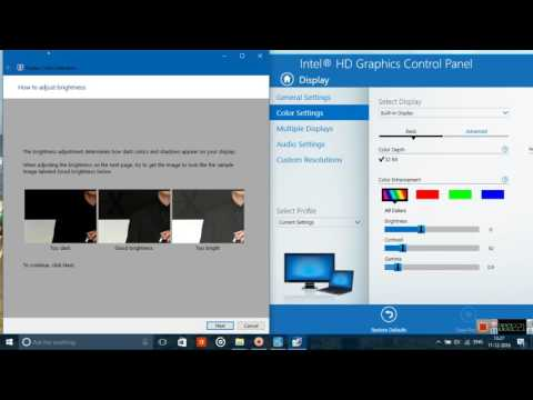 How to adjust colours on a laptop screen