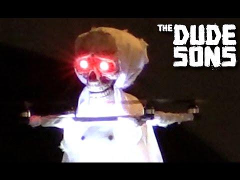 Flying Halloween Ghost Prank! video