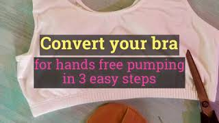 SewIn™ DIY Hands Free Pumping Bra