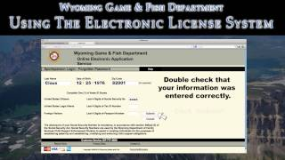 Electronic license system youtube for Wyoming game and fish license
