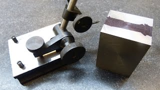 Machining Layout: Dividing and marking a part in half