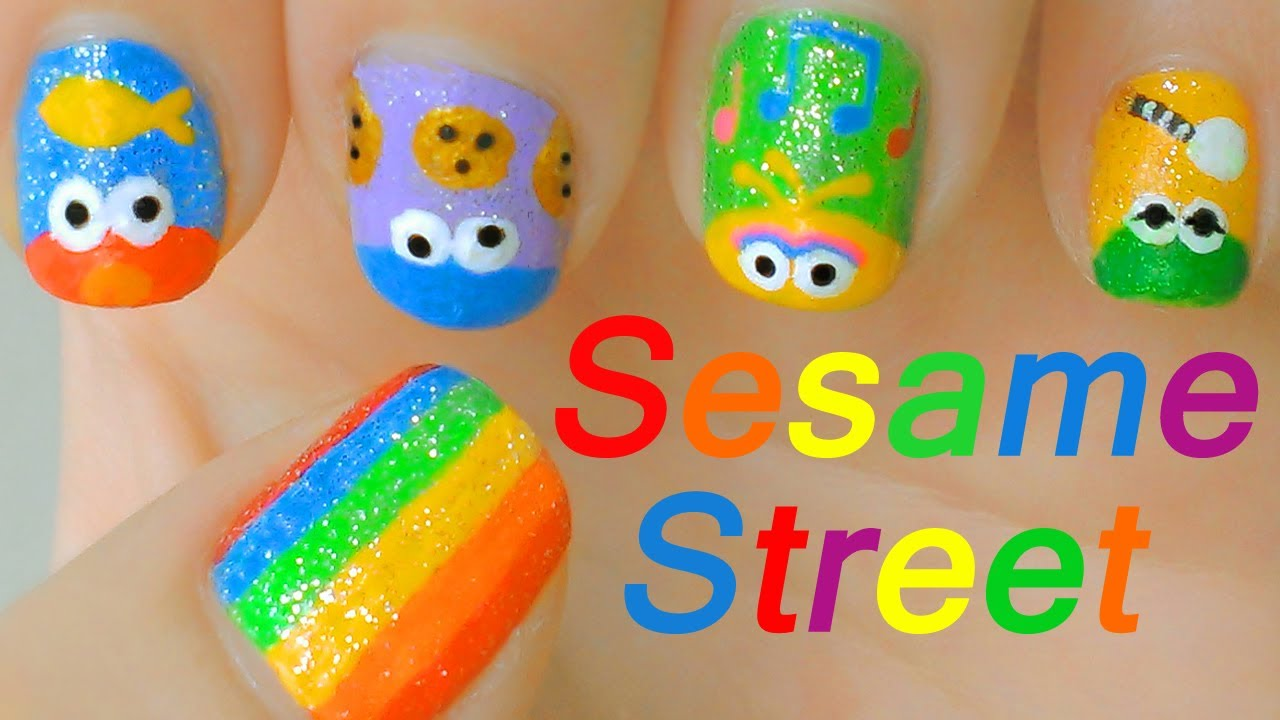 Cookie Monster Nail Designs