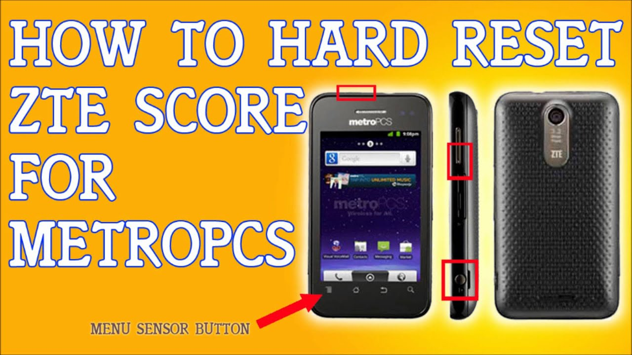 how to reset a zte cricket phone English