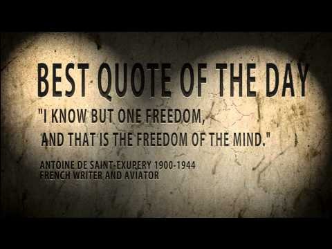 Quote of the day Antoine de St Exupery