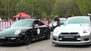Supercars and motorcycles race to victory near Moscow