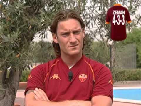 """Il mito """"Francesco Totti"""" raccontato dai suoi allenatori ed amici , la prima volta in nazionale ,alcuni gol ed intervista."""