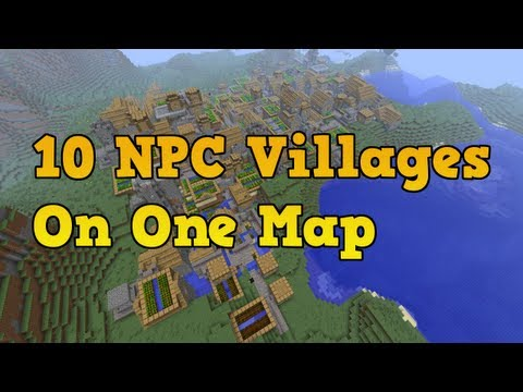 Minecraft Xbox 360 Seeds - 10 NPC Villages (5 Black Smith Chests)