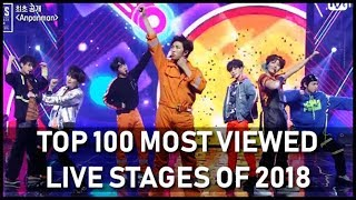 TOP 100 Most Watched Live Stages of 2018 (first half of the year)