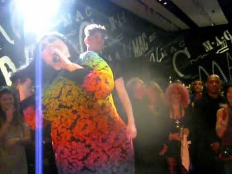 Beth Ditto @ the MAC cosmetics store in Soho - Vogue