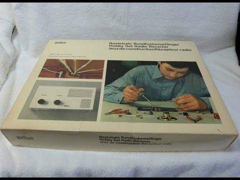 "Braun ""Hobby Set Radio Receiver"" transistor radio kit (Germany, 1960's)"