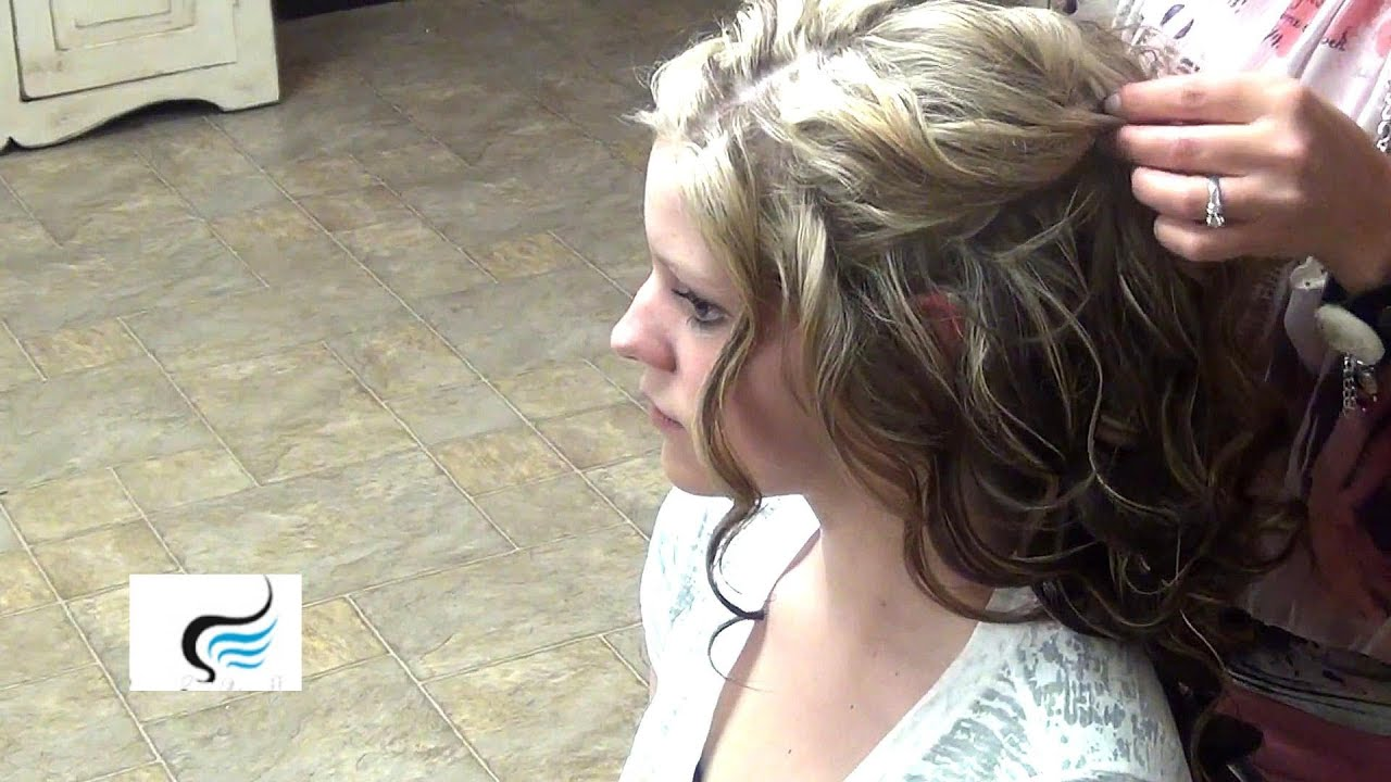 Cascading Half Updo For Long Hair Hairstyle YouTube