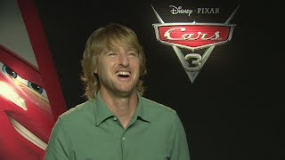 Cars 3: Owen Wilson still gets recognised on the phone