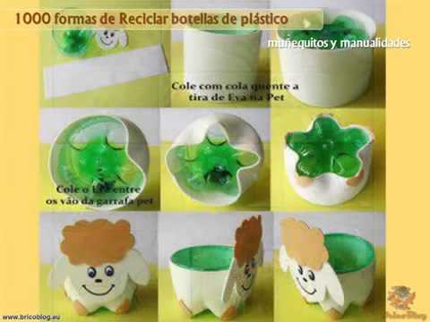 1000 ideas creativas para reciclar botellas de plastico y for Ideas creativas para decorar el hogar