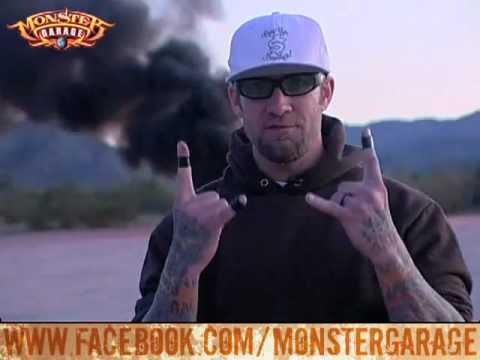 Monster garage jesse james uses a minigun to destroy an - Jesse james monster garage ...