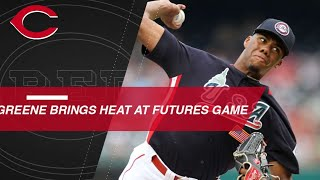 Greene brings the heat at the Futures Game