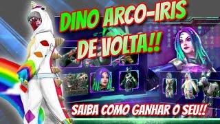 COMO GANHAR O DINO ARCO-IRIS A SKIN MAIS RARA DO FREEFIRE