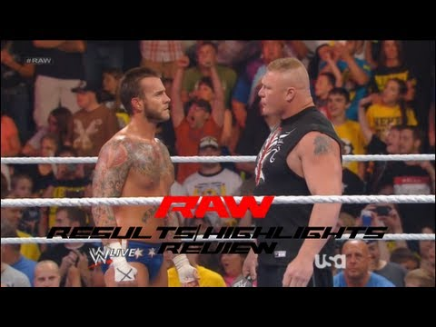 WWE Raw 6/17/13 Results/Highlights and Review, Brock Lesnar F5's Cm Punk, Christian Returns!