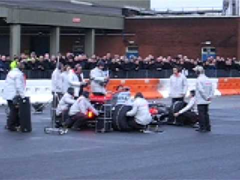 lewis hamilton car 2011. Lewis Hamilton showing off his