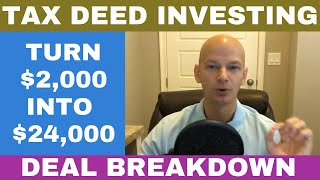 Tax Sale Investing Step By Step - Turn $2,000 into $24,000!