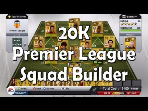 Fifa 13 Ultimate Team - 20K Barclays Premier League Squad Builder