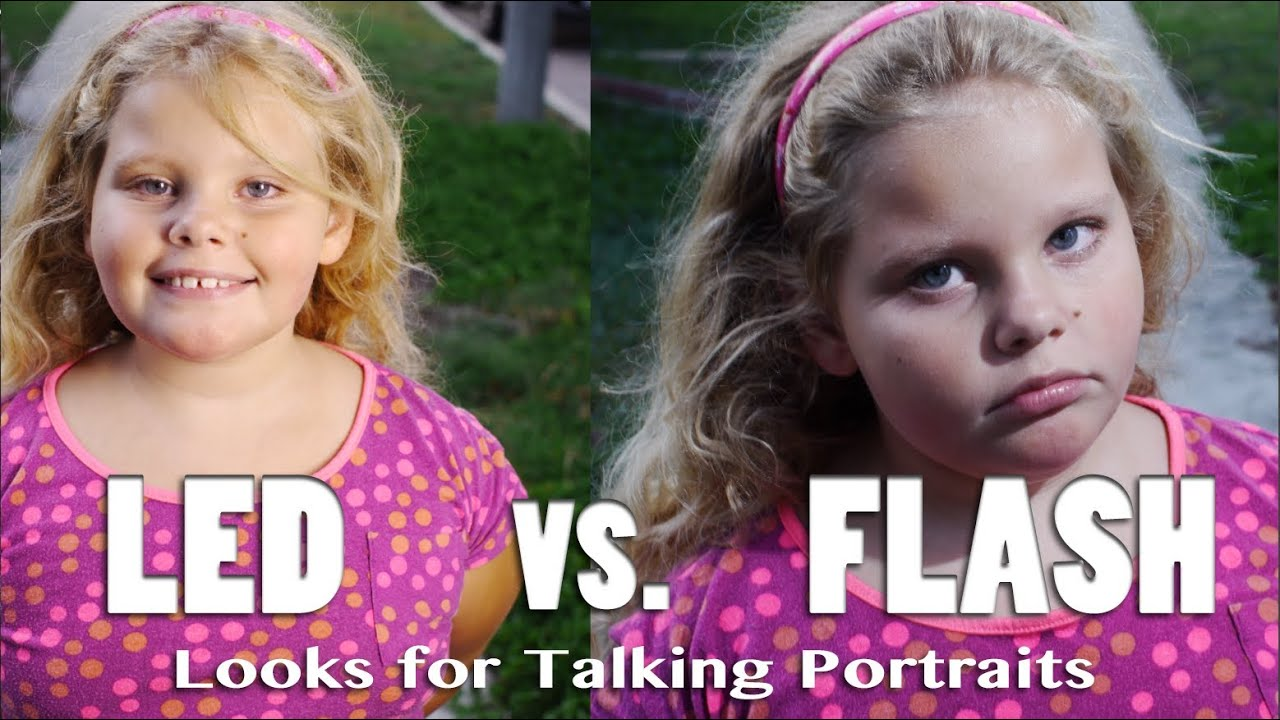 Led Vs Flash Seeing The Difference With Talking Portrait