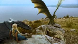 Daenerys' Dragons Fight: Full Scene (S04 E01)