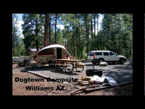 Camping with a TAB travel trailer - Williams AZ, White Mt. AZ, North Rim Grand Canyon, Telluride CO.