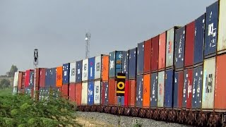 Indian Railways - Massive & Colorful DOUBLE STACK Container Train