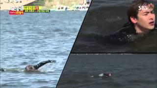 Nichkhun & Amber swim across the Han River on Running Man 248