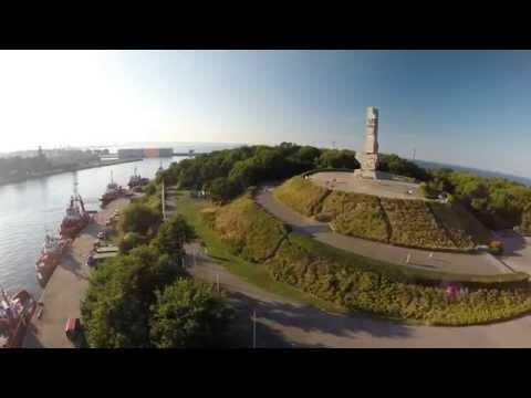 Westerplatte I Wejście Do Portu W Gdańsku Z Lotu Ptaka