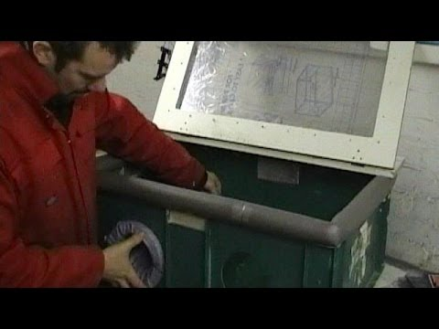 Build a sandblasting cabinet; remove wheel spokes and check rim offset